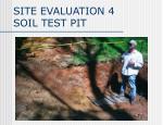 site evaluation 4 soil test pit