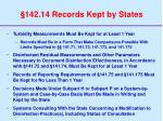 142 14 records kept by states