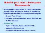 ieswtr 142 16 b 1 enforceable requirements