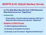 ieswtr 142 16 b 3 sanitary survey67
