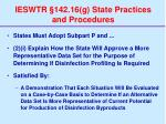 ieswtr 142 16 g state practices and procedures