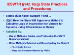 ieswtr 142 16 g state practices and procedures74