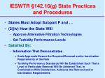 ieswtr 142 16 g state practices and procedures76