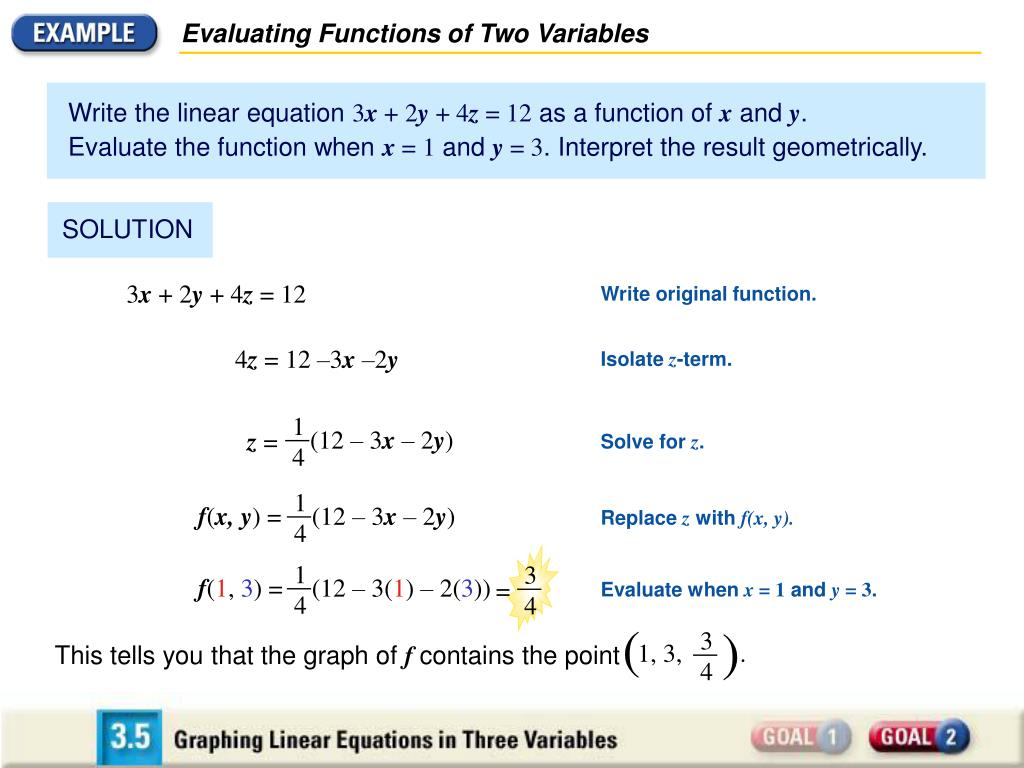 Evaluating Functions of Two Variables