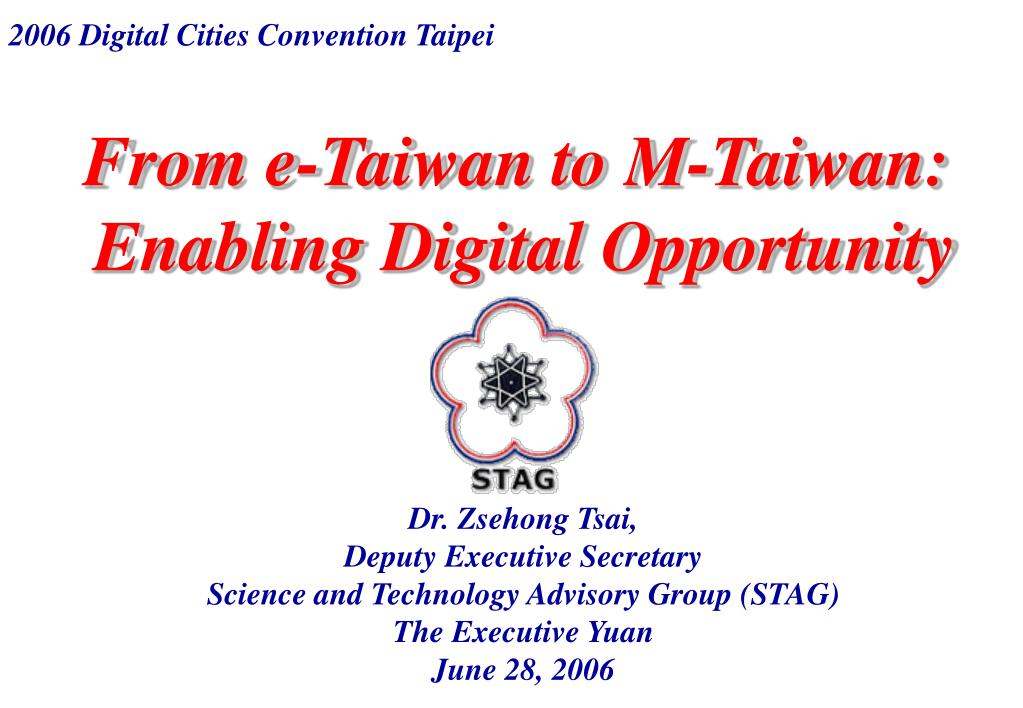 from e taiwan to m taiwan enabling digital opportunity l.
