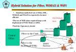hybrid solution for fiber wimax wifi