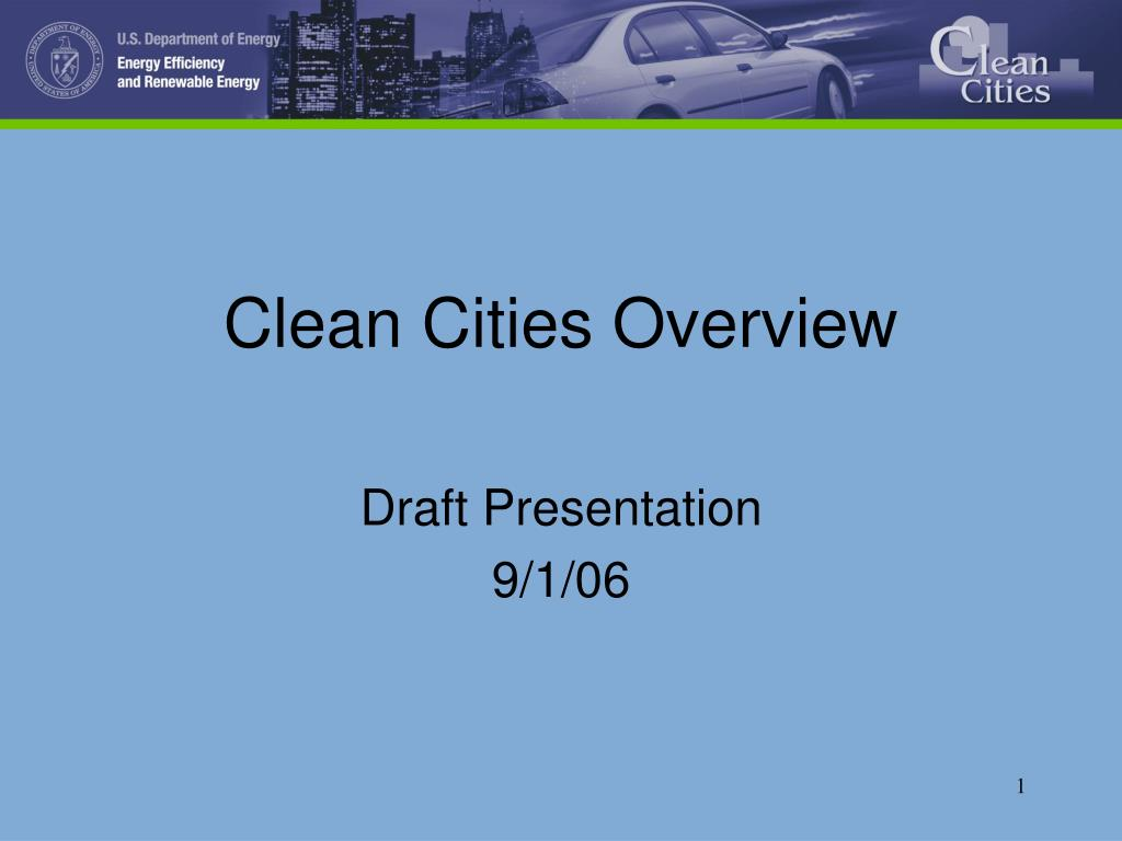 clean cities overview l.