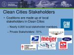 clean cities stakeholders