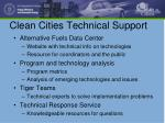 clean cities technical support
