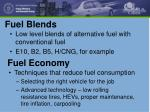 fuel blends