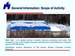 general information scope of activity