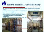 industrial structure warehouse facility