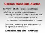 carbon monoxide alarms46