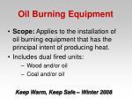 oil burning equipment29