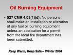 oil burning equipment30