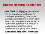 unsafe heating appliances