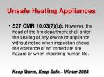 unsafe heating appliances37