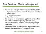core services memory management