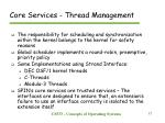 core services thread management21