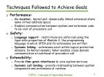 techniques followed to achieve goals