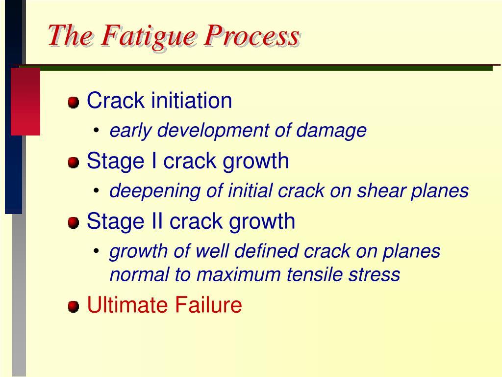 The Fatigue Process