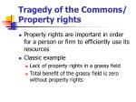 tragedy of the commons property rights