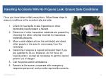 handling accidents with no propane leak ensure safe conditions