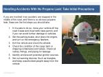 handling accidents with no propane leak take initial precautions