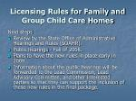 licensing rules for family and group child care homes24