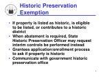 historic preservation exemption