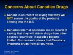 concerns about canadian drugs