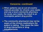 concerns continued