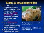 extent of drug importation