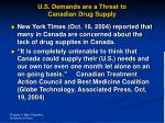 u s demands are a threat to canadian drug supply