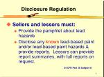 disclosure regulation