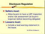 disclosure regulation7
