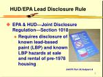hud epa lead disclosure rule
