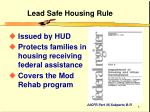 lead safe housing rule