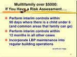 muiltifamily over 5000 if you have a risk assessment