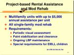 project based rental assistance and mod rehab