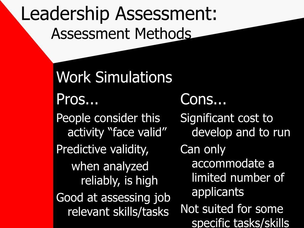 leadership assesment