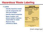 hazardous waste labeling