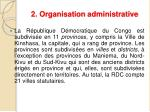 2 organisation administrative