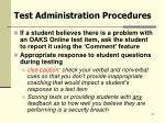 test administration procedures21