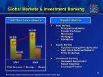 global markets investment banking