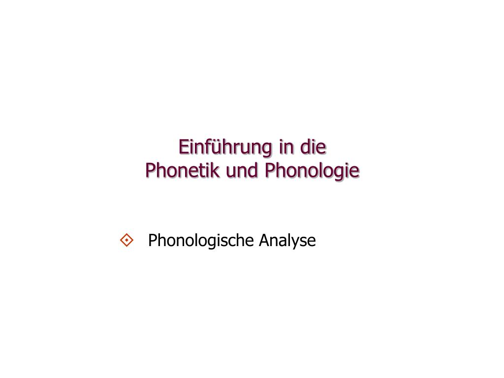 einf hrung in die phonetik und phonologie l.