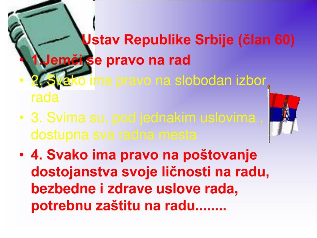 Ustav Republike Srbije (član 60)