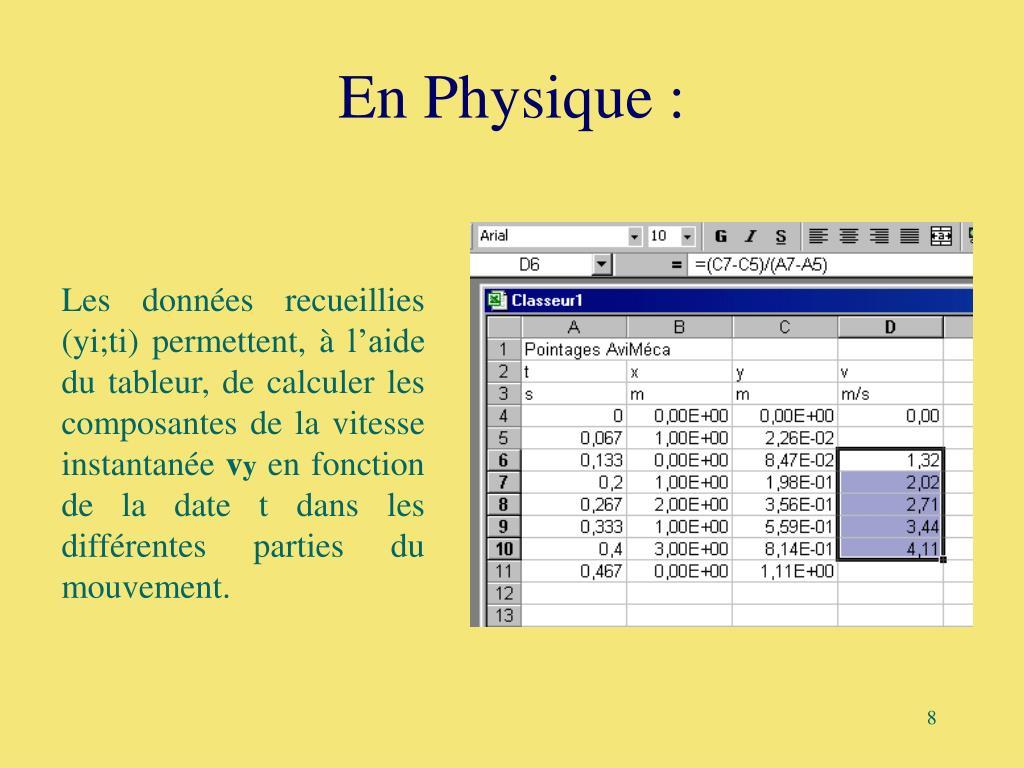 En Physique :