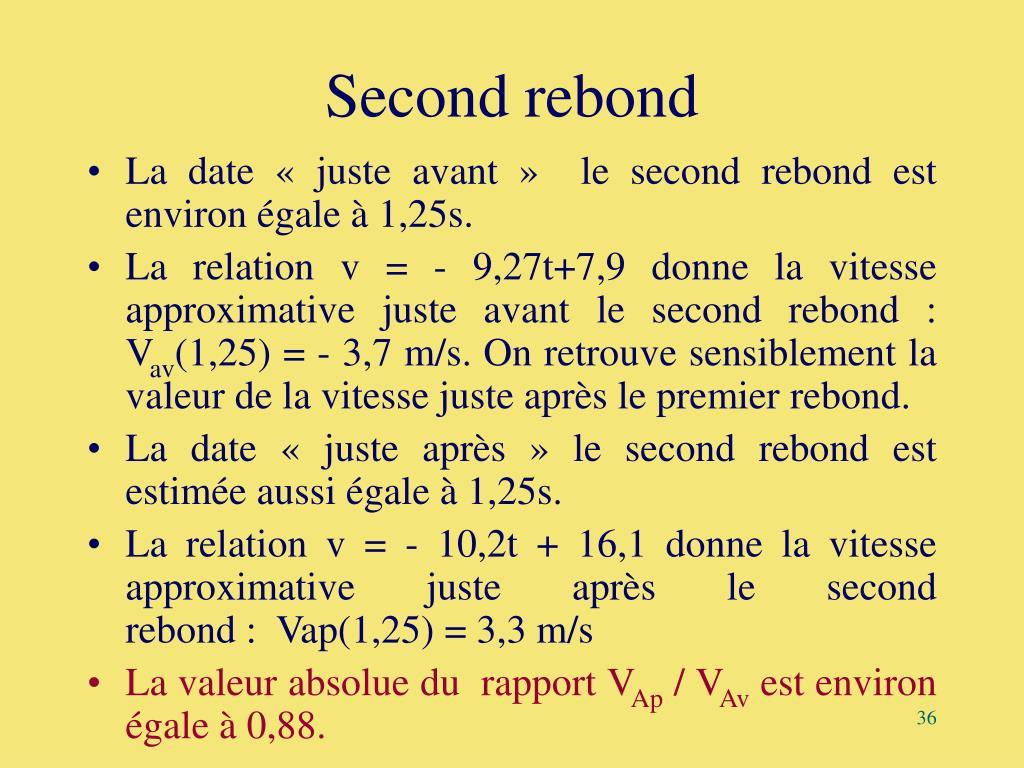 Second rebond