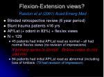 flexion extension views ralston et al 2001 acad emerg med